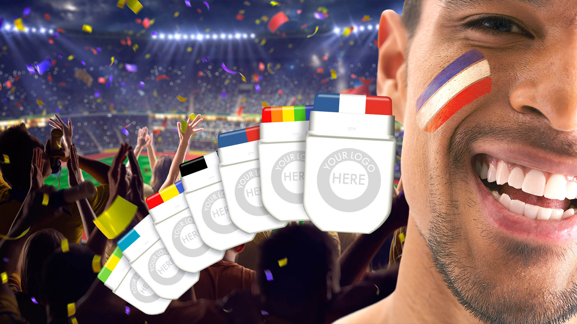 Maquillage pour supporters sportifs