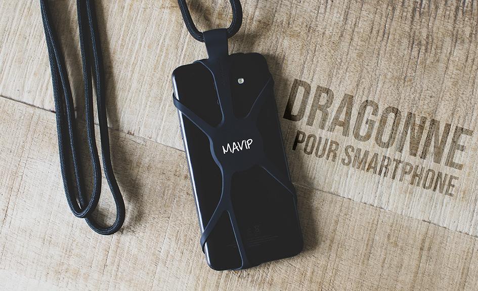 Dragonne pour smartphone personnalisable avec logo