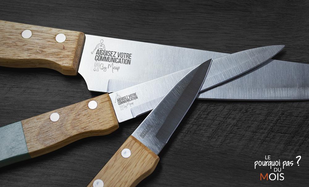 Couteaux personnalisés pour votre kit de cuisinier