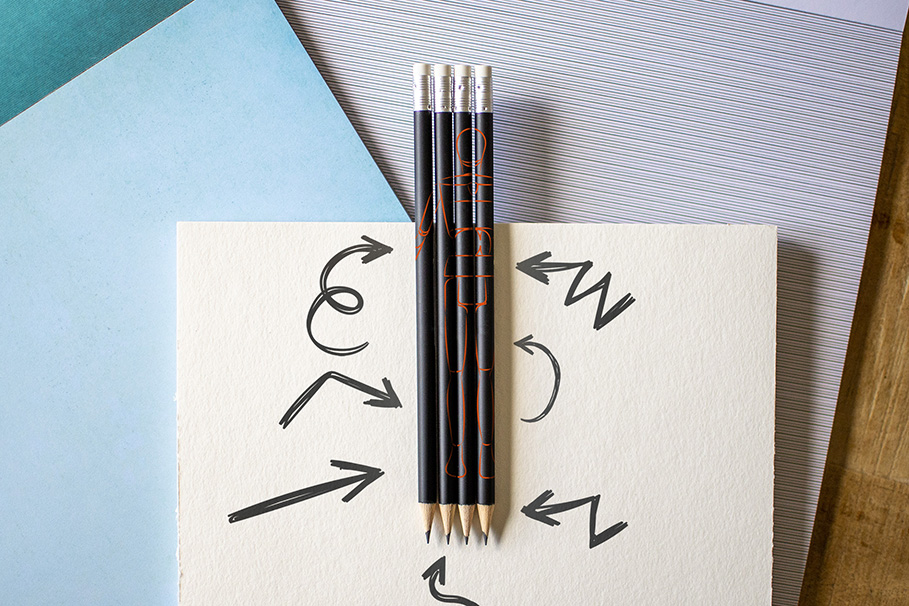 Crayon à papier personnalisé avec votre logo d'entreprise