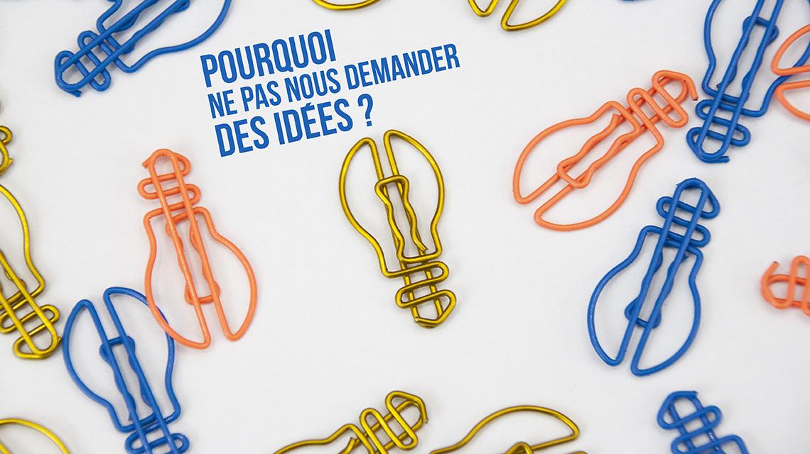 Demandez des idées d'objets à personnaliser avec votre logo