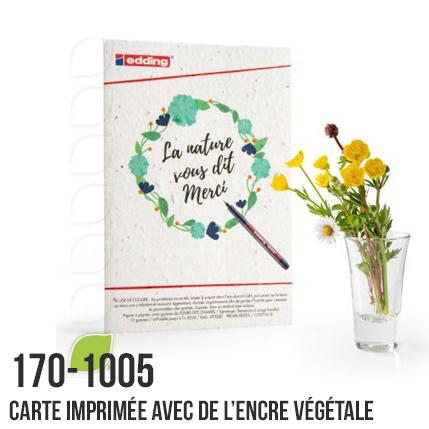 Carte imprimée avec de l'encre végétale